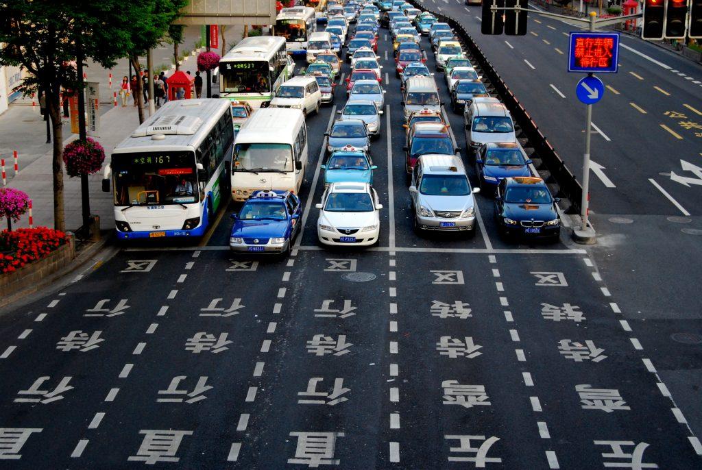 Tráfico en China