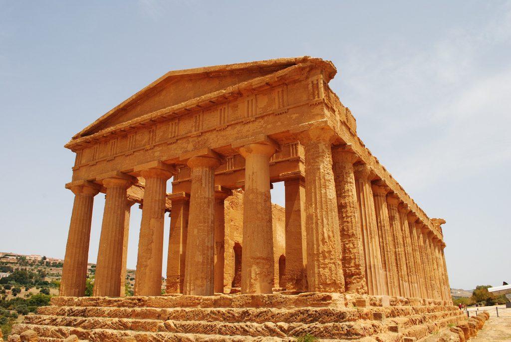 Valle de los Templos de Agrigento en Sicilia Italia