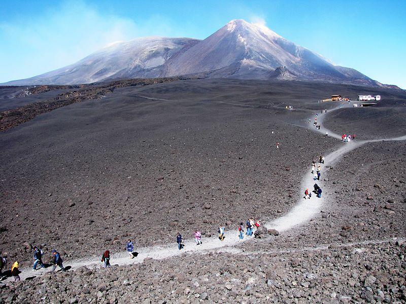 Volcan Etna en Sicilia Italia
