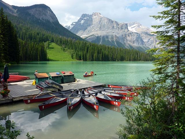 viaje en canoa en Canadá