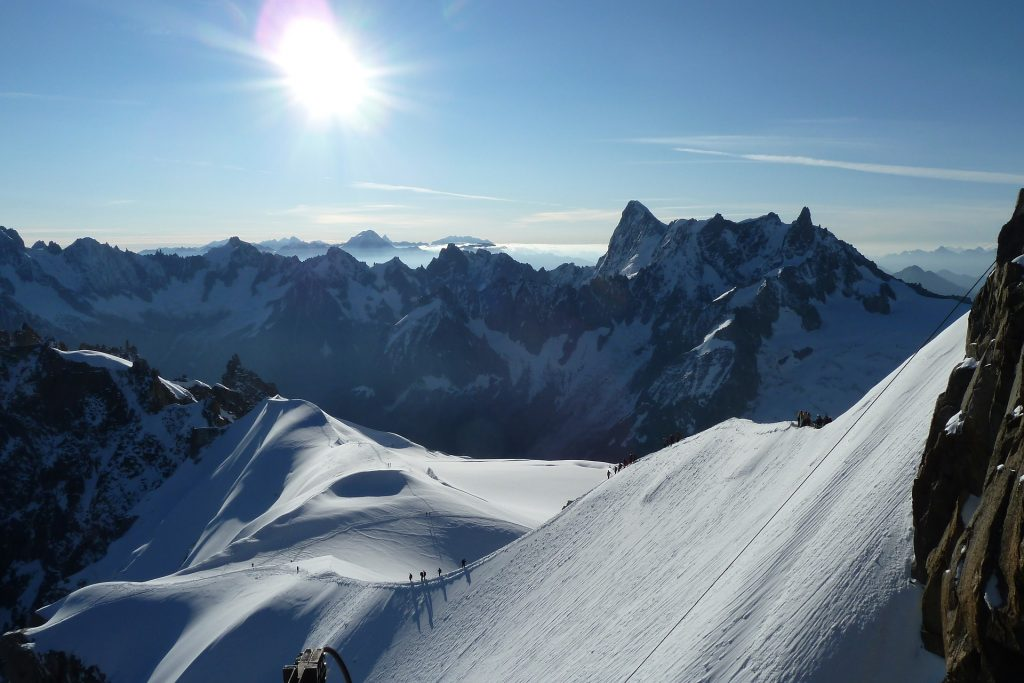vista de la montaña en Chamonix